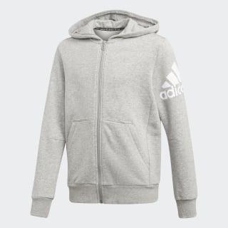 Chaqueta YB MH BOS FZ medium grey heather/white ED6472