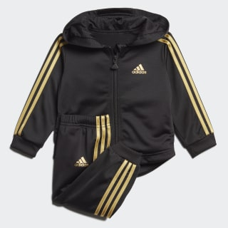 Shiny Jogger Set Black / Gold Metallic FM6381