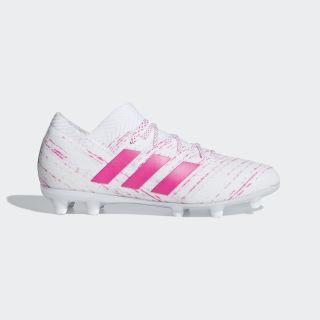 Футбольные бутсы Nemeziz 18.1 FG ftwr white / shock pink / shock pink CM8504