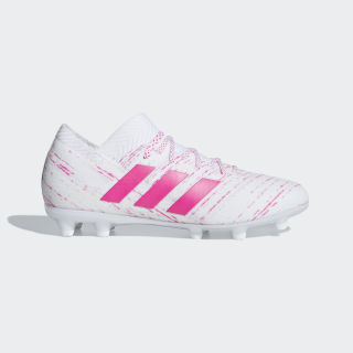 Scarpe da calcio Nemeziz 18.1 Firm Ground Ftwr White / Shock Pink / Shock Pink CM8504