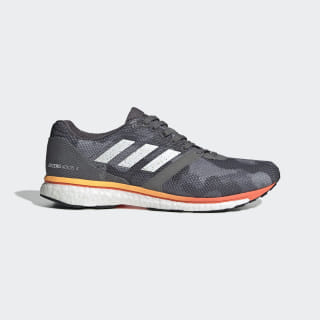 Adizero Adios 4 Shoes Grey Four / Cloud White / Solar Orange EF1462