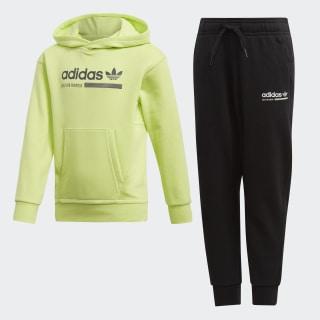 Комплект: худи и брюки Kaval semi frozen yellow / black DW9278