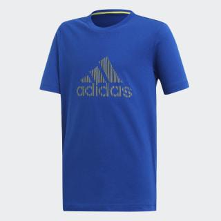 Camiseta YB ID TEE Collegiate Royal / Shock Yellow DV1670