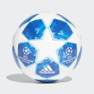 Mini ballon Finale 18 White / Football Blue / Bright Cyan / Collegiate Royal CW4130
