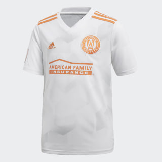 Atlanta United FC Away Jersey White / Light Solid Grey / Trace Orange CD3629