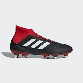 Predator 18.1 Soft Ground Boots Core Black / Cloud White / Red DB2049