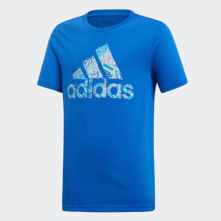 Must Haves Badge of Sport Tee Blue DV2951