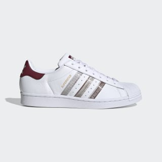 Superstar Shoes Cloud White / Collegiate Burgundy / Grey Two FX4419