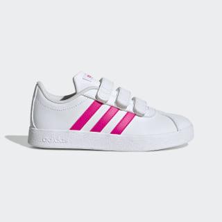 Chaussure VL Court2.0 Cloud White / Shock Pink / Cloud White EG3880