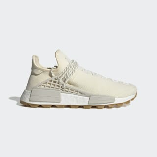 Pharrell Williams Hu NMD Shoes Cream White / Raw White / Gum EG7737
