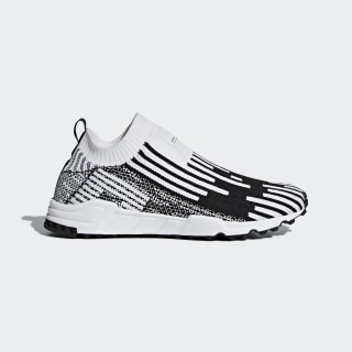 EQT Support Sock Primeknit Shoes Cloud White / Core Black / Sub Green B37524