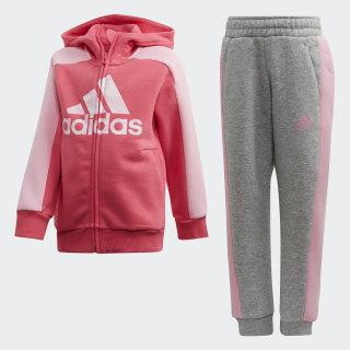 Graphic Hoodie Set Real Pink / Medium Grey Heather / Light Pink FK5877