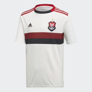 Camisa CR Flamengo 2 INFANTIL core white/scarlet/black DW3926