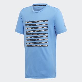 Tričko All Caps Real Blue / Black ED5775