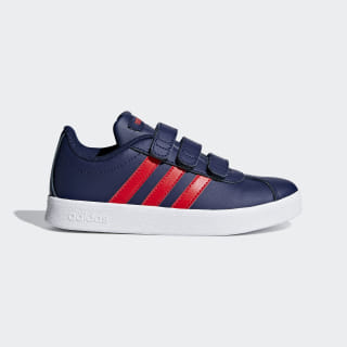 VL Court 2.0 Shoes Dark Blue / Active Red / Ftwr White F36386