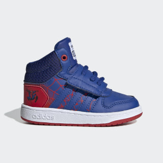 Chaussure Hoops 2.0 Mid Scarlet / Blue / Cloud White EG7902