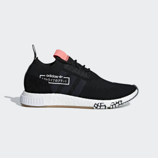 NMD_Racer Primeknit Ayakkabı Core Black / Core Black / Flash Red BB7041