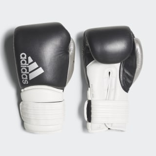 Hybrid 300 Boxing Gloves Black / White / Shiny Silver CI9186