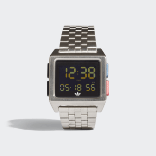 ARCHIVE_M1 Horloge Silver Met. / Black / Lush Blue / Lush Red CJ6307