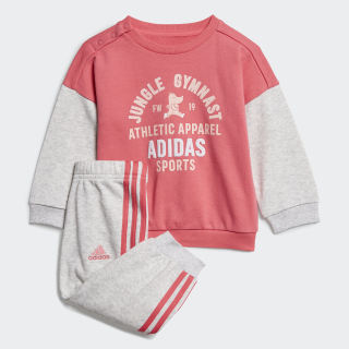 Graphic Terry joggingsæt Real Pink / Light Grey Heather ED1171