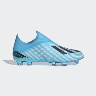 Calzado de Fútbol X 19+ Terreno Firme Bright Cyan / Core Black / Shock Pink F35323