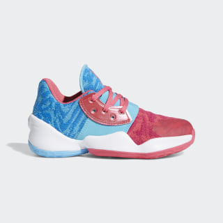 Harden Vol. 4 Shoes Real Pink / Bright Cyan / Cloud White F97294