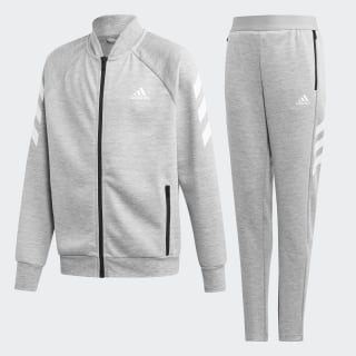 Conjunto de Chaqueta y pantalón Top:medium grey heather/white Bottom:MEDIUM GREY HEATHER/WHITE ED6216