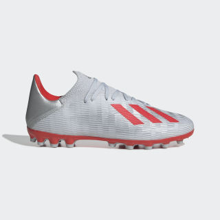 X 19.3 Artificial Grass Boots Silver Met. / Hi-Res Red / Cloud White F35336