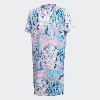 Marble Tee Dress Multicolor / White DV2354