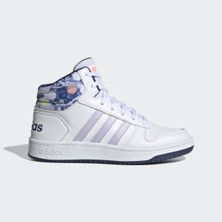 Tenis Hoops Mid 2.0 Cloud White / Purple Tint / Tech Indigo EG1990