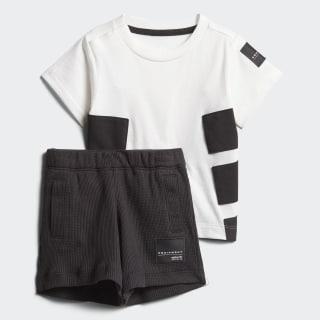 Conjunto Camiseta y Pantaloneta EQT WHITE/BLACK CW0094