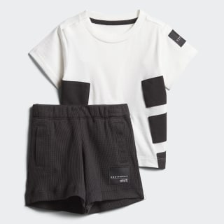 Conjunto EQT Shorts y Playera WHITE/BLACK CW0094