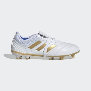 Bota de fútbol Copa Gloro 19.2 césped natural seco Cloud White / Gold Met. / Football Blue F35488