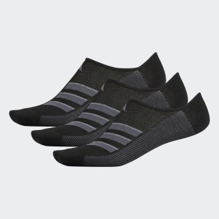 Climacool Superlite 3-Stripes No-Show Socks 3 Pairs Black CJ0635