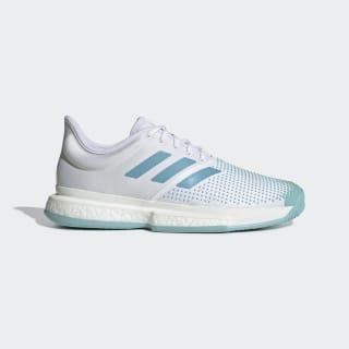Кроссовки для тенниса SoleCourt Boost Parley ftwr white / vapour blue / blue spirit G26295