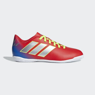 Chuteira Nemeziz Messi Tango 18.4 Futsal Active Red / Silber-Foil / Football Blue CM8639