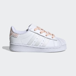 Superstar Schuh Cloud White / Cloud White / Glow Pink FV3765