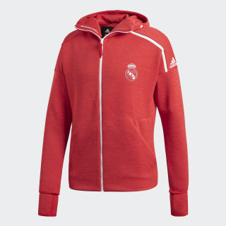 Chaqueta con capucha adidas Z.N.E. Real Madrid Vivid Red / Real Coral DS8857