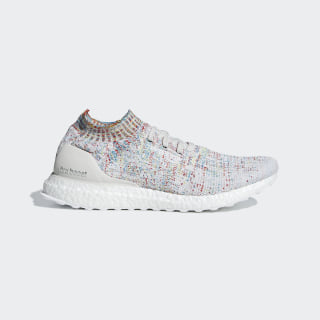 Ultraboost Uncaged Shoes Raw White / Cloud White / Shock Cyan B37691