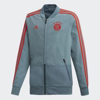 FC Bayern München Präsentationsjacke Raw Green / Red CW7279