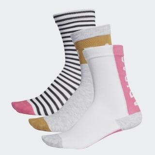 Три пары носков Graphic white / semi solar pink / raw sand DW4750