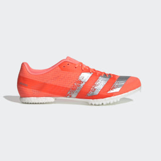 Zapatilla de atletismo media distancia Adizero Signal Coral / Silver Metallic / Cloud White EE4605