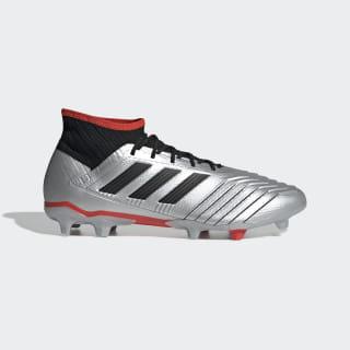 Calzado de fútbol Predator 19.2 Terreno Firme Silver Metallic / Core Black / Hi-Res Red F35601