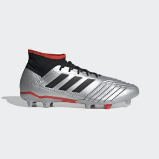 Chimpunes de Fútbol Predator 19.2 Terreno Firme Silver Metallic / Core Black / Hi-Res Red F35601