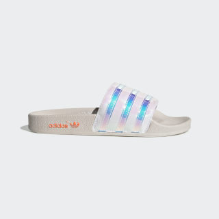 Adilette Slides Orchid Tint / Solar Orange / Cloud White EE5130