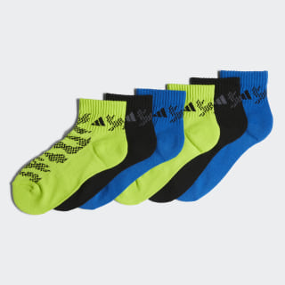 Tiger Style Quarter Socks 6 Pairs Bright Blue CJ0633