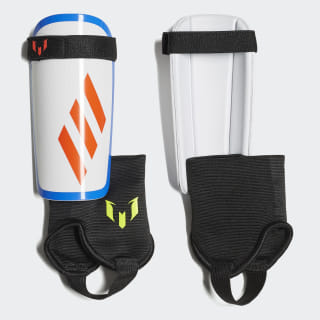 Messi Shin Guards White / Crystal White / Football Blue / Solar Yellow DX7745