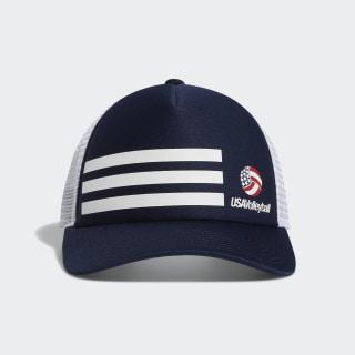 USA Volleyball 3-Stripes Trucker Hat Navy EV6230