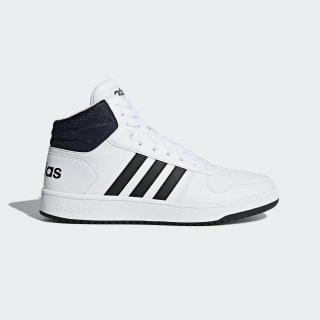 Hoops 2.0 Mid Shoes Cloud White / Core Black / Collegiate Navy DB0080