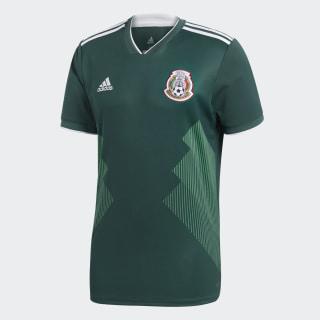 Jersey Oficial Selección de México Local 2018 Collegiate Green / White BQ4701